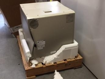 Broken styrofoam